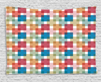 Wall or Floor Squares Wide Tapestry