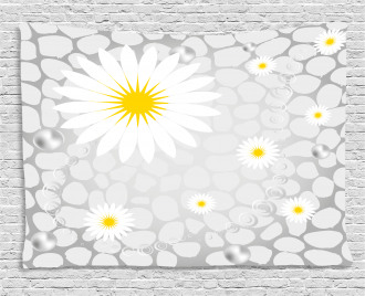 Flowers Animal Dots Wide Tapestry