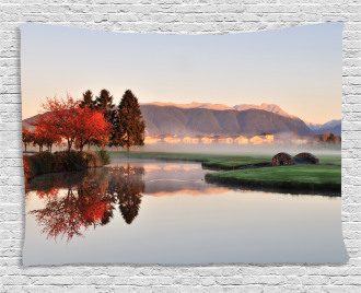 Idyllic Countryside View Wide Tapestry