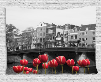 Amsterdam Canal Wide Tapestry