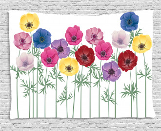 Blooming Summer Wide Tapestry