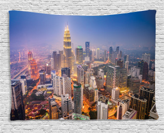 City Skyline District Wide Tapestry