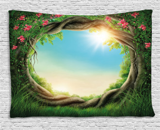 Enchanted Forest in Spring Wide Tapestry