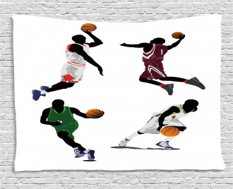 Basketball Players Sport Wide Tapestry