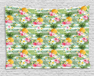 Tropical Plants Botany Wide Tapestry