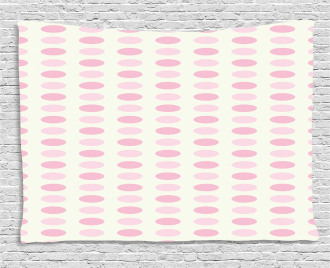Romantic Pale Dots Wide Tapestry