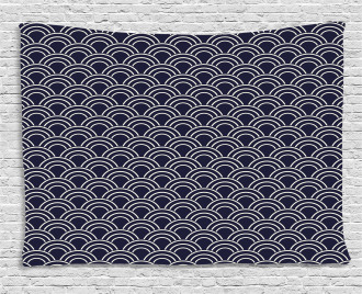 Abstract Sea Design Wide Tapestry