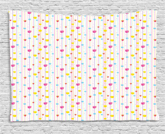Stripes Tulips Wide Tapestry