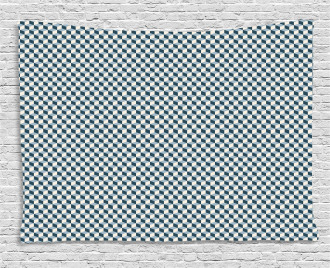 Stacked Cubes Pattern Wide Tapestry