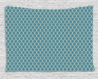 Wavy Lines Tile Wide Tapestry