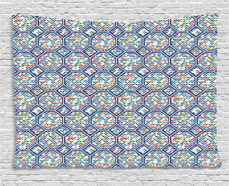 Triangles Tiles Artwork Wide Tapestry