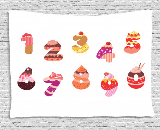 Sweets Happy Birthday Wide Tapestry