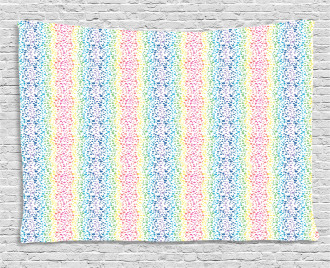 Color Transition Dots Wide Tapestry