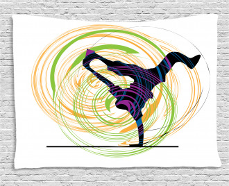 Single Hand Stand Move Wide Tapestry