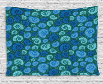 Periwinkle and Vortex Wide Tapestry