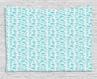 Abstract Cloud Pattern Wide Tapestry
