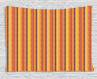 Pastel Stripes Wide Tapestry
