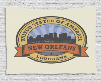 Louisiana City View Wide Tapestry