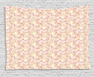 Leaf Pattern in Warm Colors Wide Tapestry