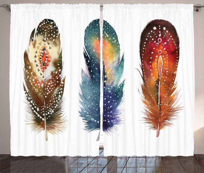 Feather Tribal Curtain