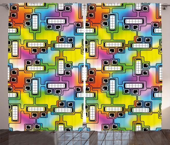 Fun Characters Pattern Curtain
