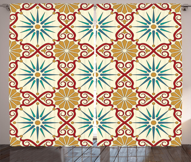 Sacred Geometric Forms Curtain