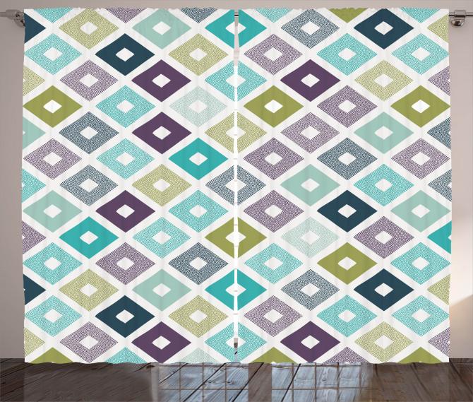 Geometrical Triangles Curtain