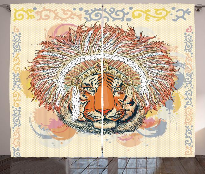 Africa Safari Wild Tiger Curtain