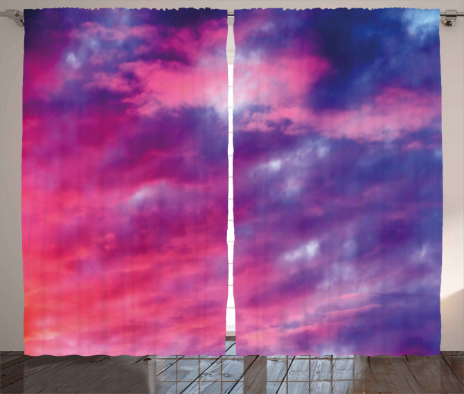 Magical Cloudy Sunset Curtain