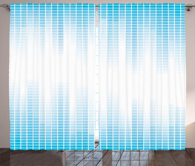 Geometric Squared Design Curtain