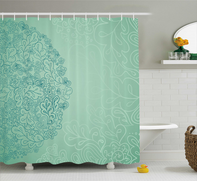 Mixed Leaves Botanical Shower Curtain