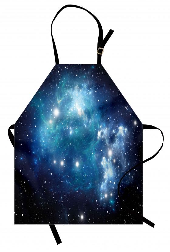Evren ve Galaksi Mutfak Önlüğü Şık Tasarım