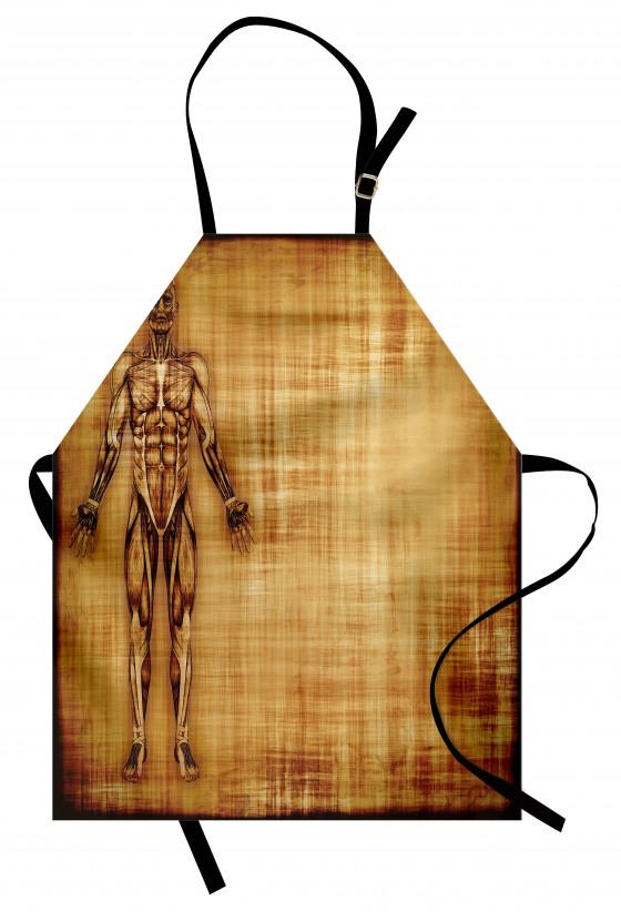 Kas Sistemi Desenli Mutfak Önlüğü Anatomik