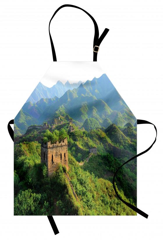 Ormana Gömülü Çin Seddi Mutfak Önlüğü Antik