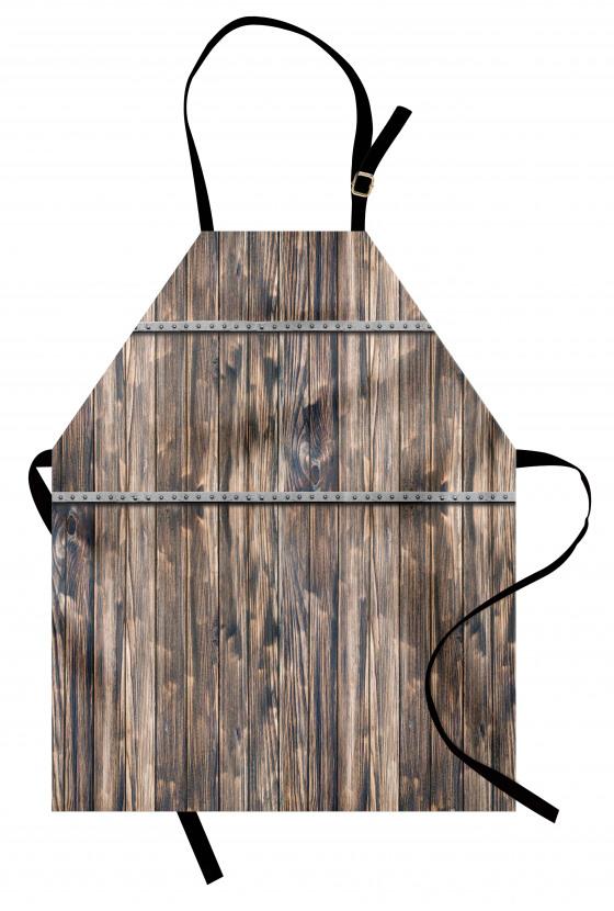 Ahşap ve Metal Şeritler Mutfak Önlüğü Country Tarzı