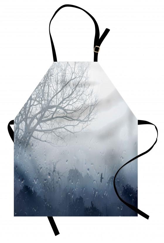 Sisli Ormanda Bir Gün Mutfak Önlüğü Yağmur Damlaları