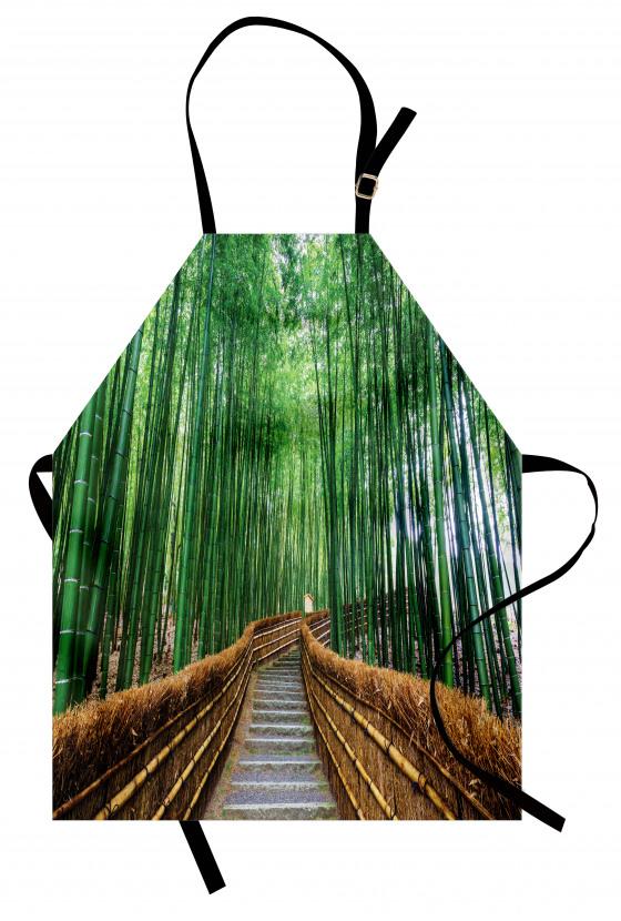 Huzurlu Orman Yolu Mutfak Önlüğü Ağaçlar