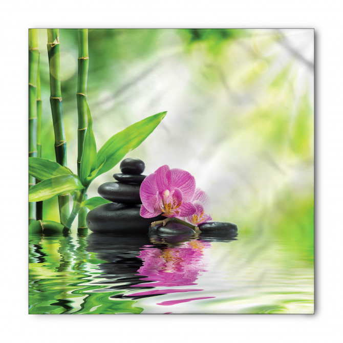 Bambu ve Çiçek Bandana Fular