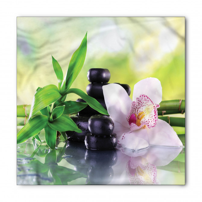 Çiçek Taş ve Bambu Bandana Fular