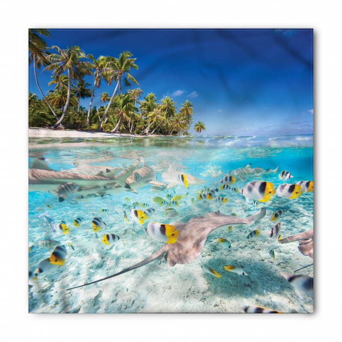 Denizdeki Sarı Balıklar Bandana Fular