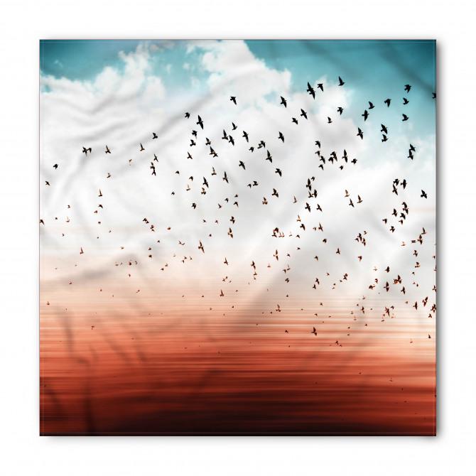 Gökte Süzülen Kuşlar Bandana Fular