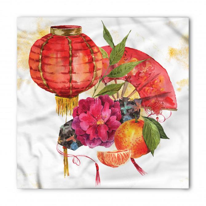 Fener ve Çiçek Desenli Bandana Fular