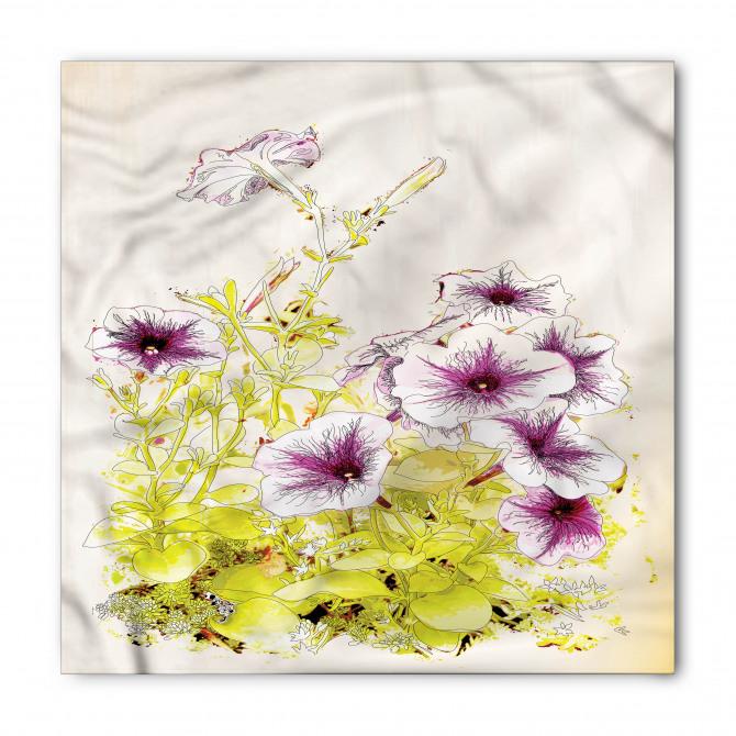 Mor Borazan Çiçeği Bandana Fular