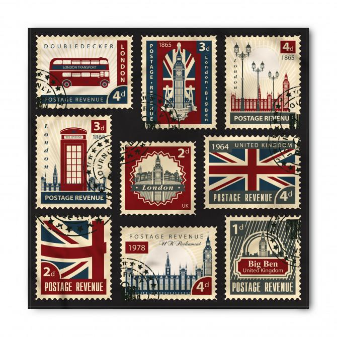 Londra Posta Pulları Bandana Fular