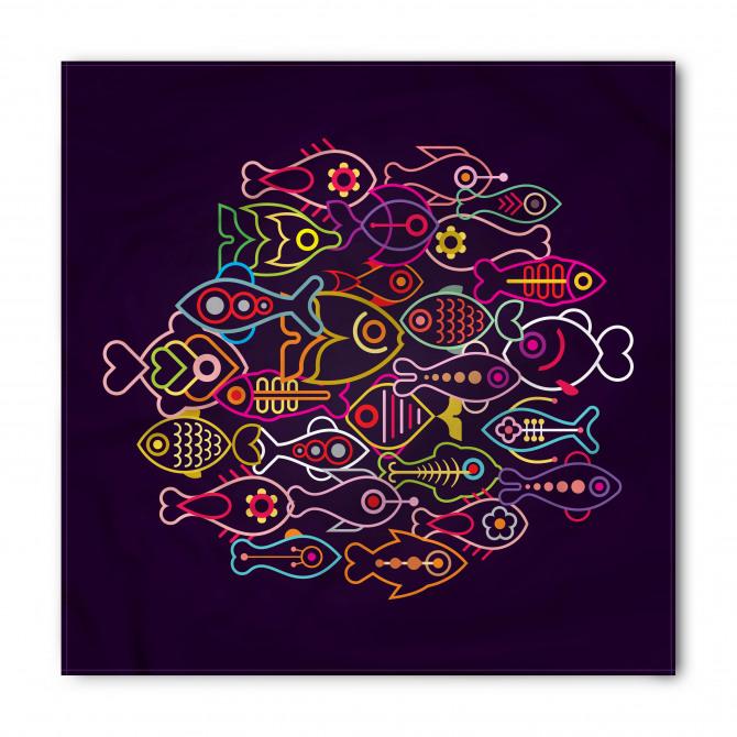 Rengarenk Balıklar Bandana Fular