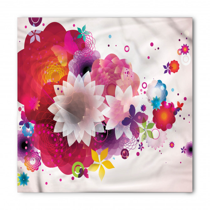 Çiçek Cümbüşü Desenli Bandana Fular
