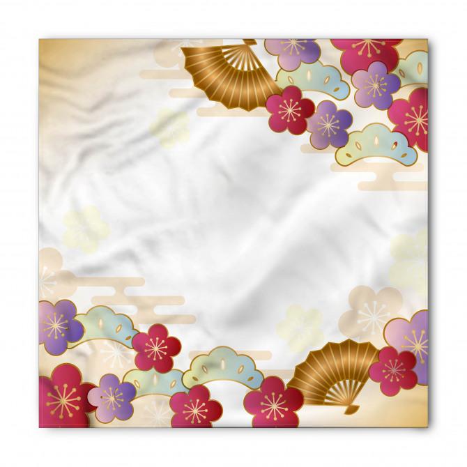 Dekoratif Çiçek Desenli Bandana Fular