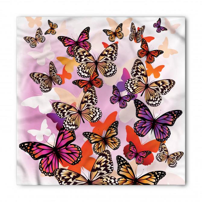 Dekoratif Kelebekler Bandana Fular