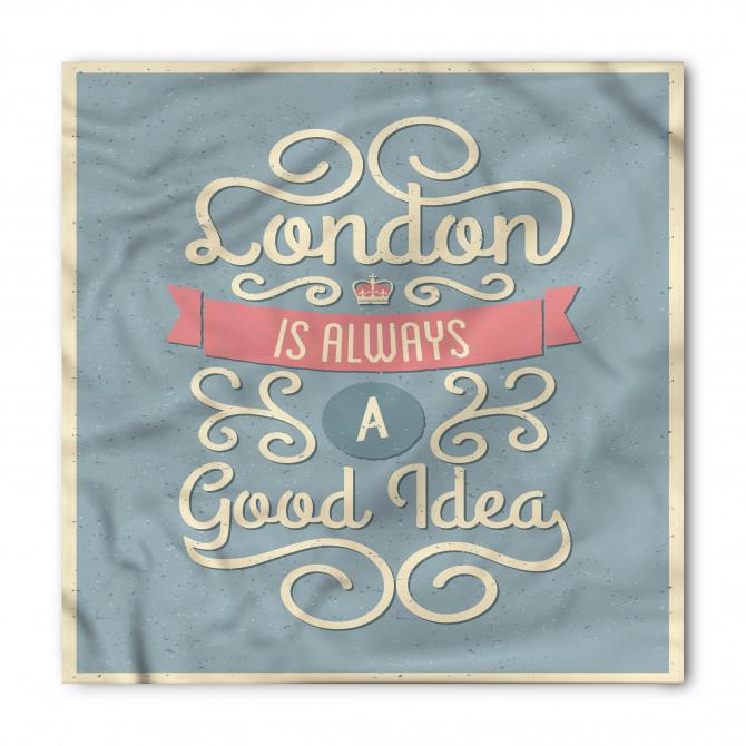 Londra Desenli Bandana Fular