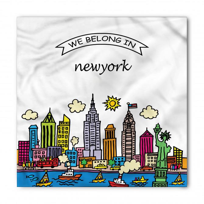 New York Desenli Bandana Fular